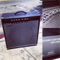 Evans 1x15 combo amp w/DPU200 power amp SE200 preamp w/cover - $695