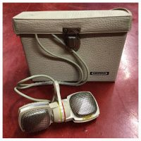 1960s Grundig GDSM202 stereo dynamic mic w/case & cable - $149