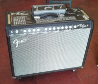Fender Super-Sonic Twin w/footswitch & cover $1,800