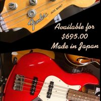 Fender Jazz Bass Made in Japan - $695