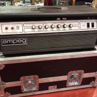 Circa 1976 Ampeg V4 head (converted to 6550 power tubes) w/flight case - $795