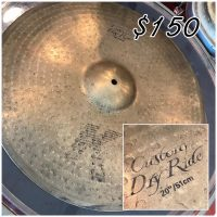 "Zildjian K 20"" Custom Dry Ride - $150"