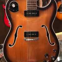 1960's Crucianelli Panaramic 1200 w/hsc - $400 Has replaced tuners & bridge. P-90 pickups also were added by the previous owner. Made in Italy.