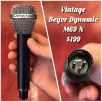 Vintage Beyer Dynamic M69 N microphone - $199