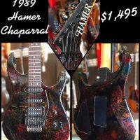 1989 Hamer Chaparral w/ohsc - $1,495