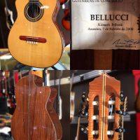 Bellucci Concert classical guitar lefty w/ ohsc - $450