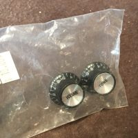 Knobs black reflector style for Gibson style guitars (pair) - $10