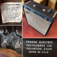 1964 Fender Concert amp w/foot switch - $1,395 All original speakers and transformers