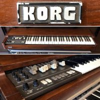 Early 1980's Korg CX-3 portable organ w/ original case - $895