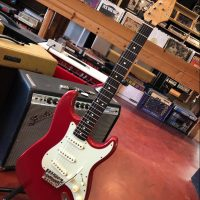 1996 Fender Stratocaster in Candy Cola red finish MIM - $395 w/ upgraded Callaham steel trem block, Kluson tuners, & Raw vintage 50's pickups. All original parts included as well.
