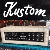 1970's Kustom K200A-5 amp head - $195 Yes, white sparkle.