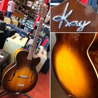 "Mid 1950's Kay K-1 17"" Archtop w/ chip case - $695"