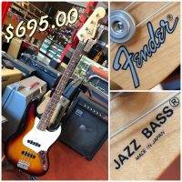 1994-95 Fender Jazz Bass MIJ w/ gig bag - $695