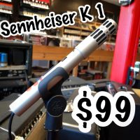 Sennheiser K1 condenser mic w/ cardioid capsule - $99