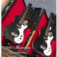 1960's Silvertone 1448 guitars w amp/cases starting at $595.