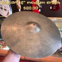 "Zildjian 16"" medium crash - $80"