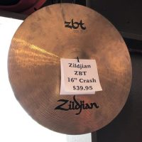 "Zildjian ZBT 16"" Crash - $39.95"