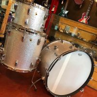 "1970's Ludwig 3 piece kit 24"",16"" and 13"" 3-ply maple, re-wrapped shells w/ keystone badges - $1,330"